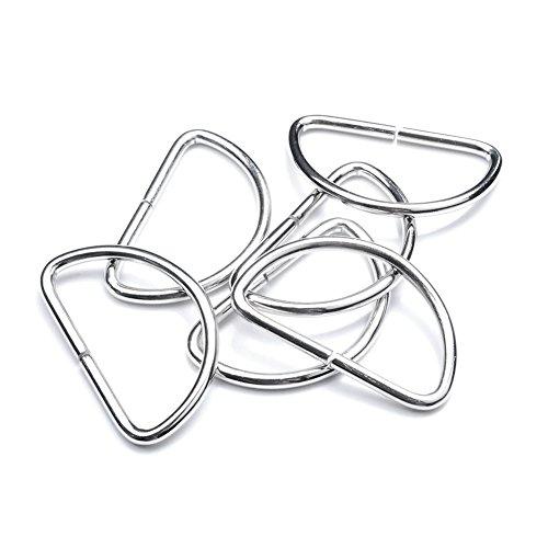 "50 Pack 1-1/2"" Dee Rings D-Ring Metal Buckle Strap Sewing Accessories FLQ015"