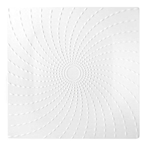 HOTELWARE Riz Plat carré, 28.5 cm, Porcelaine, Blanc