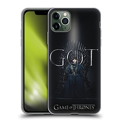 Officiële HBO Game of Thrones zemelen Stark Seizoen 8 voor de troon 1 Soft Gel Case Compatibel voor Apple iPhone 11 Pro Max