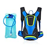 RuRu monkey 12L Hydration Pack, Insulated Hydration Backpack with 2L Free Water Bladder (Blue)