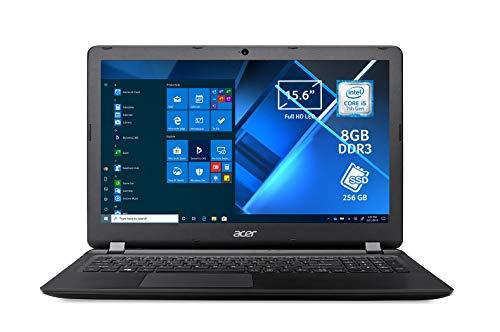 Acer Extensa 15 EX2540-51HP Notebook con Processore Intel Core i5-7200U, RAM da 8 GB DDR3, 256 GB SSD, Display 15.6' FHD LED LCD, Scheda Grafica Intel HD 620, Windows 10 Professional, Nero