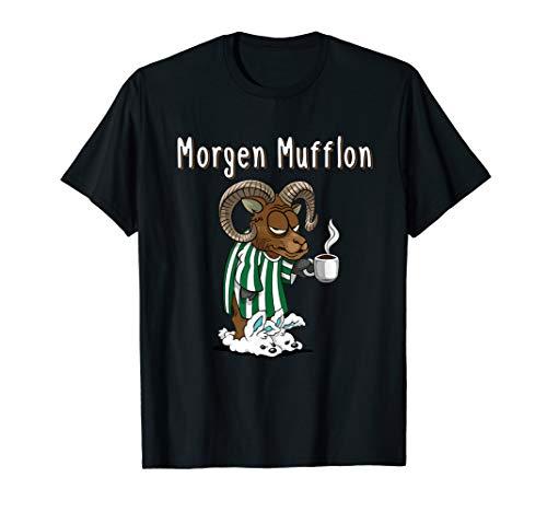 Lustiges Morgen Mufflon Morgenmuffel Kaffee Geschenk T-Shirt