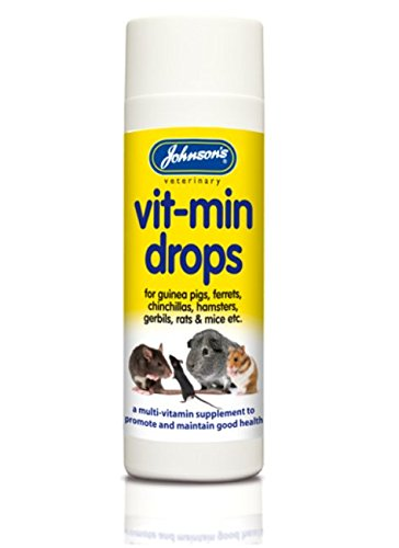LEEWAY WOODWORK JOHNSONS HAMSTER & GERBIL VIT-MIN DROPS 100ML - SUPPLEMENT - HEALTHY PET VITAMIN (3 PACKS)