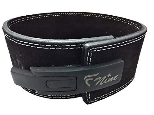 FNine Sports Weight Lifting Power Belt, Lever Belt for pro, for Wight Lifting and Power Training (Medium 34-38  Waist)