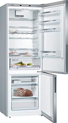 Bosch Serie 4 KGE49VI4A Independiente 412L A+++ Cromo nevera y congelador - Frigorífico (412 L, SN-T, 15 kg/24h, A+++, Compartimiento de zona fresca, Cromo)