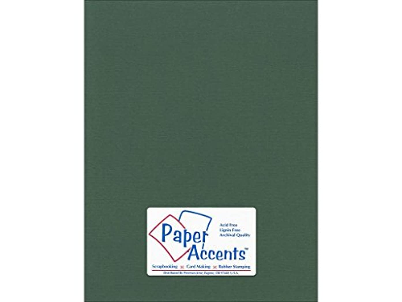 Accent Design Paper Accents Cdstk Canvas 8.5x11 80# Evergreen