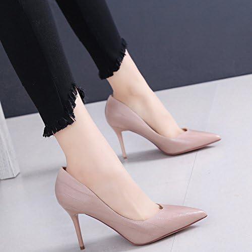 SFSYDDY Sexy Avec Une AHommesde Des Chaussures Une Petite Bouche Des Talons Hauts Des Chaussures En Cuir Et Des Chaussures La Profession Le Travail Trente - Six marron