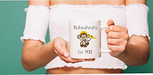 Taza de 325 ml, plátanos para ti, bananas sobre ti, bananas para mi mono y plátano, mono, regalos de bananas y amor mono