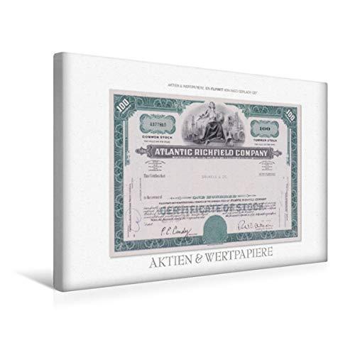 Calvendo Premium Textil-Leinwand 45 cm x 30 cm quer, EIN Motiv aus dem Kalender Aktien & Wertpapiere | Wandbild, Bild auf Keilrahmen, Fertigbild auf echter Leinwand, Leinwanddruck Wissen Wissen