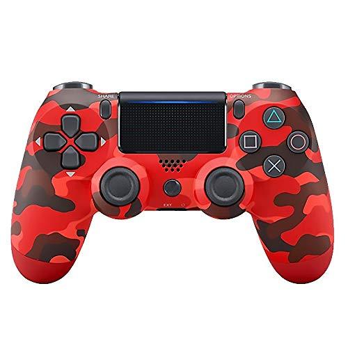 xahoas Manette sans Fil Bluetooth PS4 La Manette De Jeu PS4 De Quatrième Génération Manette De Jeu Bluetooth Camo Rouge