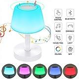 Ranipobo Lampada da tavolo con Altoparlante Bluetooth, USB Ricaricabile Portable + Touch Dimming RGB color mode Lampada da comodino, per Bambino Cameretta e campeggio