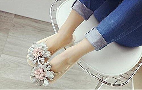 SCLOTHS Tongs Femme Chaussures Fond épais Maison de de de Vacances Fleurs étudiants mer antidérapante Pente Talons Moyens 769
