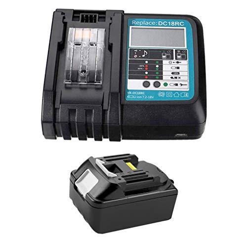 Batería de litio de repuesto BL1850 18V 5.0Ah + 3A DC18RC cargador 18V para batería Makita BL1850 BL1860 BL1840 BL1830 BL1815 LXT-400 DC18RA DC18RC