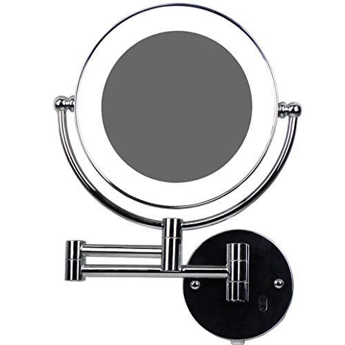LED Beleuchtet wunderschöne Kosmetikspiegelhochwertig für die Wandmontage 3 hohe Vergrößerungsgrade wählbar 7Fach, JL58-7