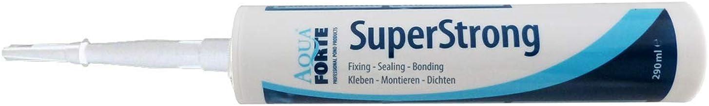 Elastische lijm voor vijver en aquarium I AquaForte Superstrong MS polymeer, 290 ml, zwart I eenvoudig alles afdichten I g...