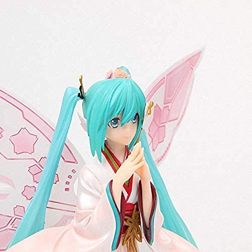 LWH-MOU Anime Good Smile Racing Kimono Ver.Hatsune Miku Tony Butterfly Schöne Statue Figur Modell Spielzeug mit Kleinkasten-Keine Kleinkiste