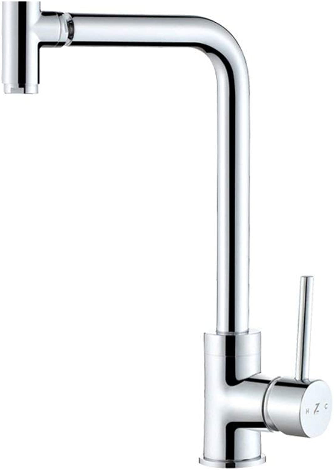 Oudan All copper kitchen faucet Hot and cold sink faucet Can be redated vegetables basin faucet (color   -, Size   -)