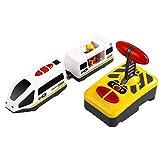NUOBESTY, treno elettrico per bambini, 1 pezzo 31 x 16 x 8 cm, modello treno elettrico, giocattolo educativo per imparare a distanza, giocattolo educativo radiocomandato, senza batteria