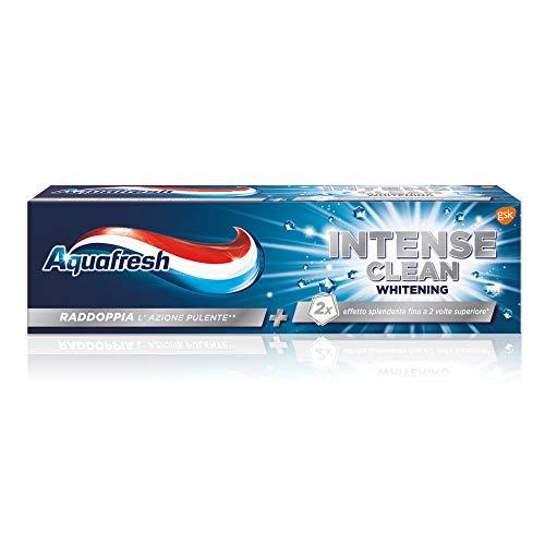 Aquafresh Dentifricio Intense Clean Whitening - Pacco da 12x75ml