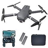 le-idea IDEA31 Drone Profesional con Cámara 4K, Quadcopter RC 5GHz con Motor sin Escobilla, Drones Plegable con Camera HD, Dron GPS Plegable para Principiantes, Tiempo de Vuelo 46 Min(2 baterias)
