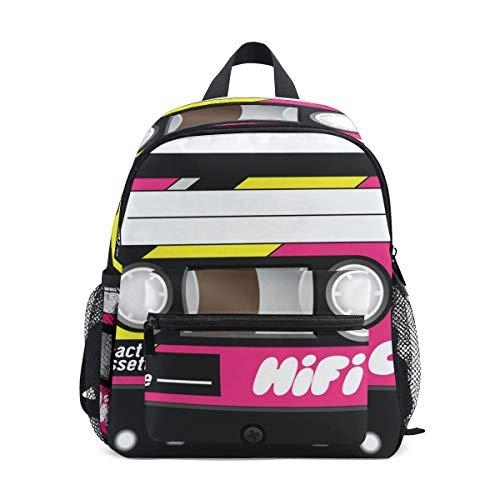 Zaino per bambini Retro Plastica Audio Cassette Prescolare Zaino Borsa Da Viaggio per 3-8 Anni Neonata Ragazzo