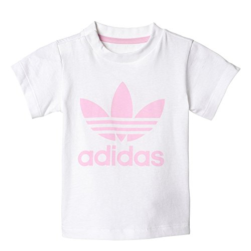 adidas I Trefoil tee Camiseta, niños, Blanco (rosesc), 74