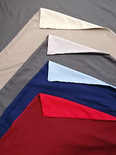 Pago Poco Bettwäsche-Set mit Unterlage aus superweicher Mikrofaser, einfarbig, wendbar, Maße: Doppelbett, französisches Bett ! Una Piazza e Mezza grau