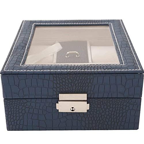 ROSG Caja de Reloj y Organizador de Soporte de joyería, Caja de Almacenamiento de exhibición Caja de Almacenamiento de exhibición de joyería Caja de Almacenamiento de Reloj de joyería