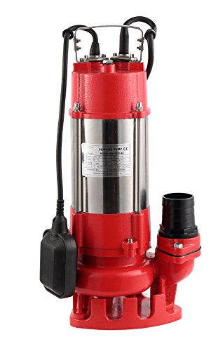 Hallmark Industries MA0387X-9A Sewage Pump with Float Switch, 7250 gpm, Stainless Steel, Heavy Duty, 1 hp, 230V, 49' Lift, 20' Cable