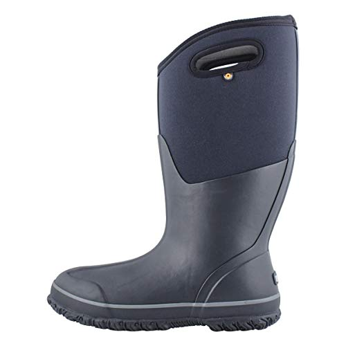 Bogs Women's Classic Tall Wide Calf Rainboot Rain Boot, Black, 9