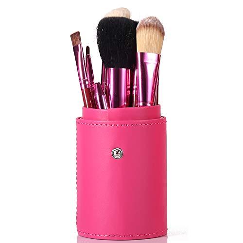 Pinceau De Maquillage Professionnel Set 12 Tube Brosse Débutant Ensemble Complet De Maquillage Maquillage Brosse Baril Brosse Outil Combinaison Rose rouge
