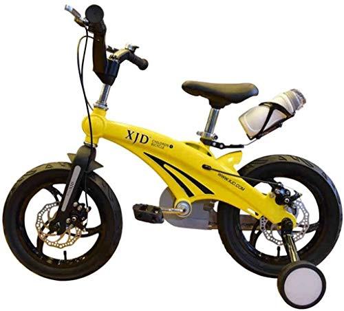 TQJ Cochecito de Bebe Ligero Bicicleta para niños convenientes, niños de 3 a 6 años de Edad 12/14/16 Pulgadas Hombres y Mujeres Pedal de bebé Aleación de magnesio Bicicleta de montaña cómoda