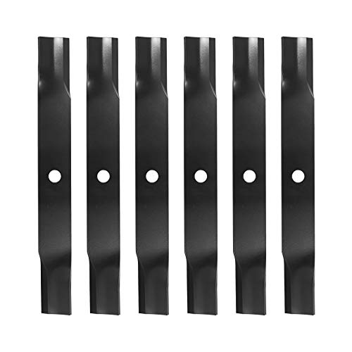 """ECOTRIC 6pcs Lawn Mower Blades 60"""" Deck Compatible with John Deere 737 757 777 797 Replacement for Part Number M128485, M144196, TCU15881"""