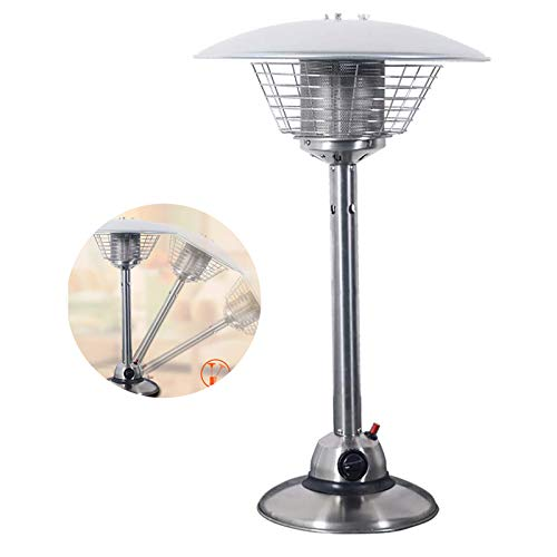 ZHANGLE Tabletop Patio Heater Stainless Steel Portable Indoor Heater, Hypoxia Cut Off and Overturned Safe Shutdown Features, for Garden Camping