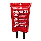 Hochwertige Löschdecke - ORIGINAL Protecticure Brandschutzdecke nach DIN EN 1869-1,2 Meter x 1,2...