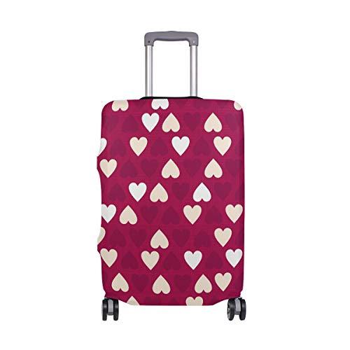 Orediy - Funda elástica para equipaje de viaje, diseño de corazones en forma de...