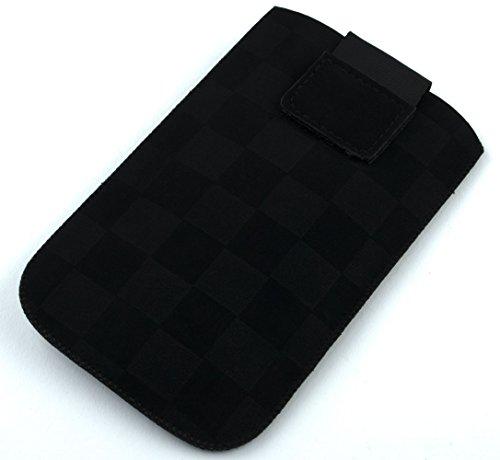 NFE² Etui - schwarz - mit Ausziehlasche & Flacher Gürtelschlaufe kompatibel mit Wiko Cink Peax 2