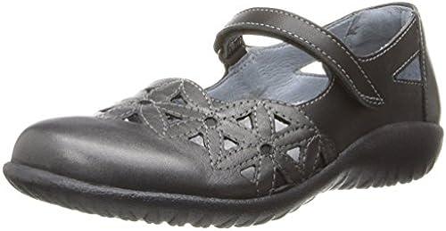 Naot Damen Schuhe Mary Jane Spangenschuhe Toatoa Leder grau SchwarzKombi 10336