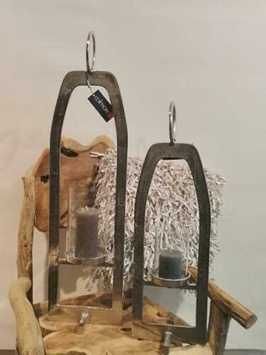 Colmore Windlichtlaterne/Glaseinsatz Kerzenhalter Windlicht Deko Alu Silber Größe 92x21x24 cm