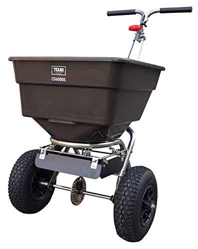 TEXAS CS6000S Streuwagen | bis zu 300 cm Arbeitsbreite | 58 Liter Fassungsvermögen | Geeignet für Samen, Dünger und Salz