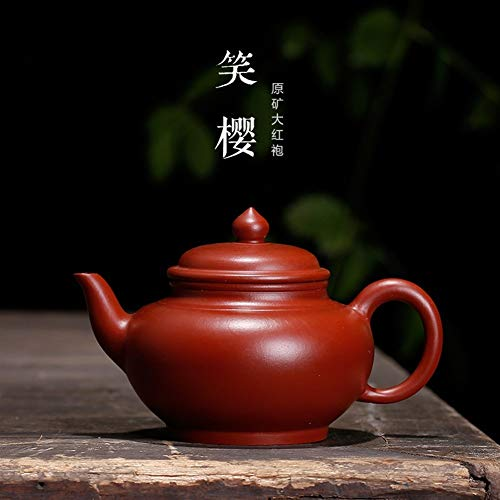 WANGZHI Big Red Cereza Tetera Tea Cup Risas (Color : Purple mud, Size : One Size)