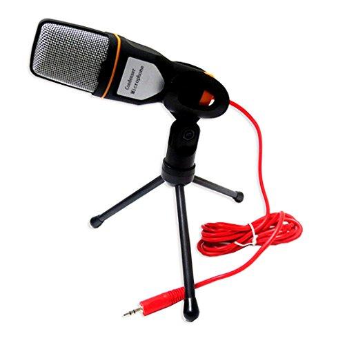 KAXIDY Professionale Microfono Condensatore con Supporto Mic Studio di Registrazione per PC Computer Portatile
