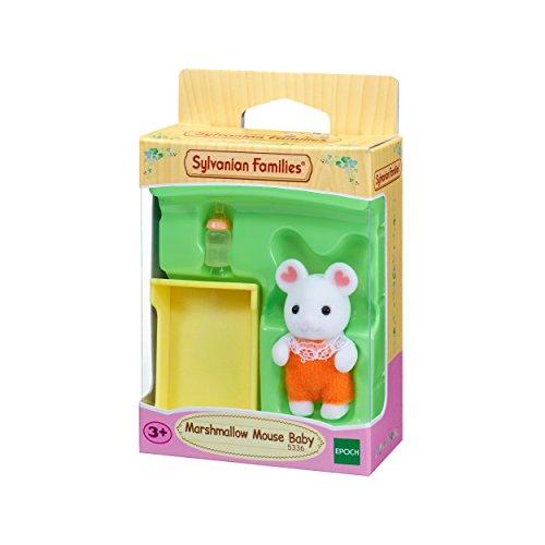 Sylvanian Families 5336 Marshmallow Mäuse Baby - Figuren für Puppenhaus