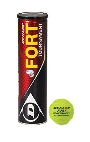 Dunlop DTB Turnierbälle Fort Tournament 4er Tennisbälle, Gelb, One size