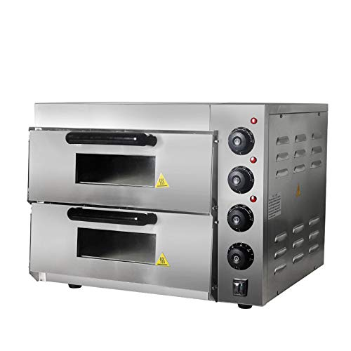Oven Rotary Controls Double Glazed Door Built In Double Oven - Stainless Steel Toast Oven with Convection 3000 W