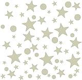 GWHOLE 430 Unidades Estrellas Pegatinas Luminoso Decorativo de Pared Adornos Fluorescentes Adhesivo decoración para Pared Techo Habitación de Bebé Niños Fiestas Decorativas