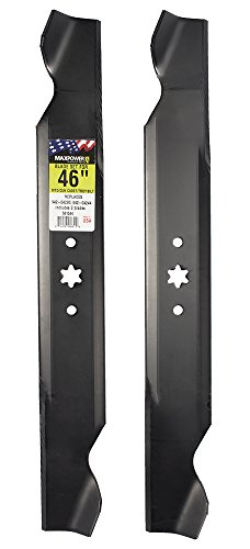 MaxPower 561544B 2-Blade Set for 46 Inch Cut MTD/Cub Cadet/Troy-Bilt Replaces 942-04244, 942-04290, 94204244A, 742-04290, 742-04244, Black