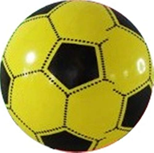 Pelota de plástico para niños, 23 cm, color amarillo: Amazon.es ...