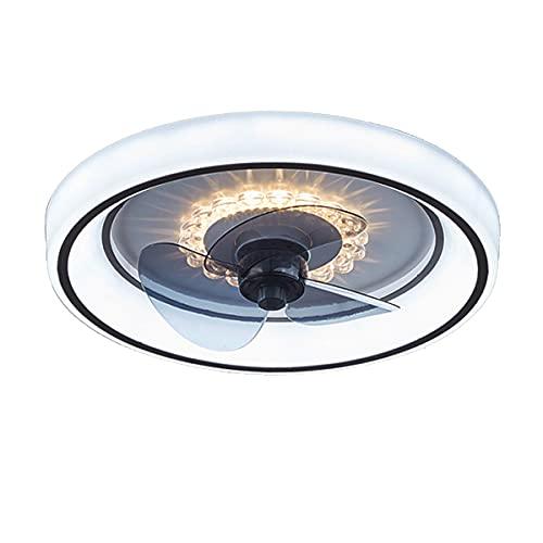 QJUZO 55W Ventiladores De Techo con Iluminación LED Y Mando A Distancia, Ultra Silencioso Ventilador 3 Velocidades De Viento Lámpara De Techo Regulable Moderna para Comedor Dormitorio Sala De Estar