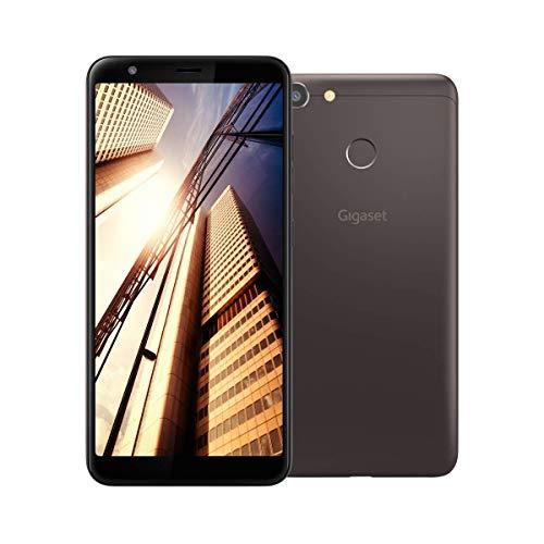 Gigaset GS280 Handy ohne Vertrag Made in Germany- mit Gesichtserkennung, Fingersensor, Dual-Sim (32GB Speicher, 3GB RAM, Full HD+ Display 18:9, 5,7 Zoll), 5000 mAh Akku, 4G LTE) Smartphone, braun